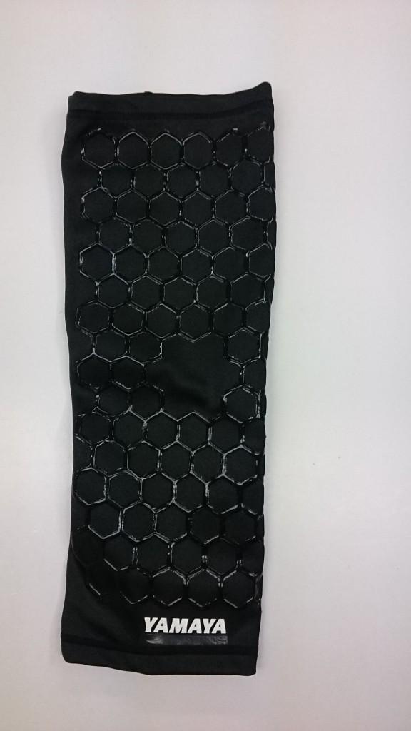 シリコン印刷した黒いひざ用サポーター